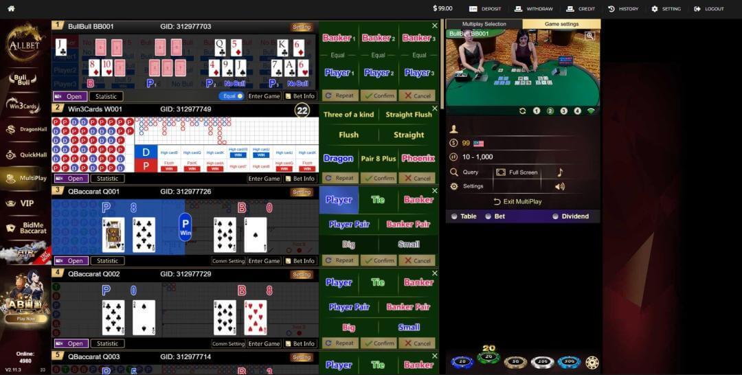 allbet online play