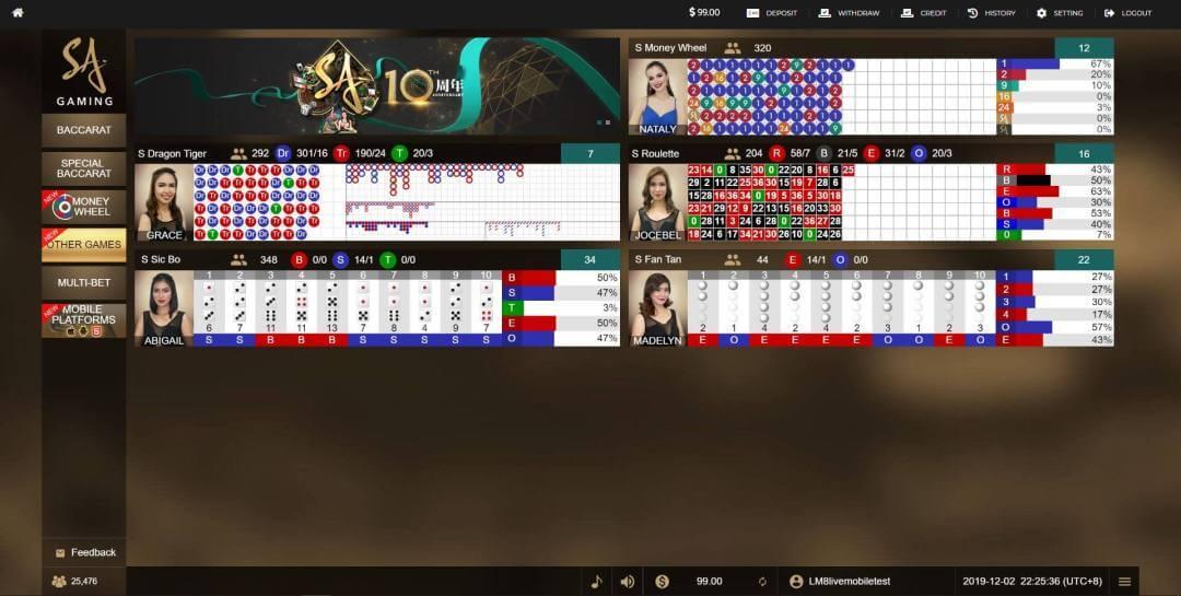 sa gaming online